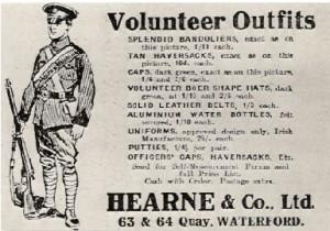 An advertisement for Irish Volunteer Uniforms.