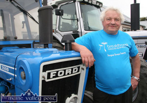 Castleisland lung cancer survivor, Noel O'Connor is the organiser behind the fundraising Tractor Run fromThe Halfway Bar in Ballymacelligott from 1pm sharp on Sunday, June 12th. ©Photograph: John Reidy
