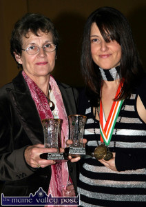 European Gold Medal winner, Christina Broderick pictured at a reception in Moyvane  with her Failte Ireland tutor, Margaret Carmody from Knockanure. ©Photograph: John Reidy 25/11/2006