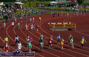 And some will be Champions: A pre-games parade of future champions representing every parish, town and village at the Denny Kerry Community Games Athletics finals at the An Ríocht Athletic Club in Castleisland in 2015. ©Photograph: John Reidy