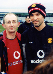 Con Hewitt pictured here with Roy Keane during a trip to Old Trafford.