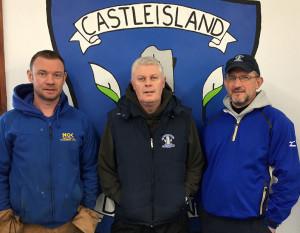 Desmonds junior team mentors, from left: Niall O'Connor, Edmund Hartnett and Colm O'Shea. Photograph: Gerard Murphy