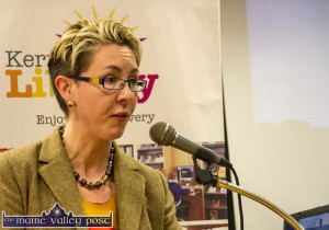 Kerry County Council Conservation Officer, Victoria McCarthy speaking at the launch. ©Photograph: John Reidy