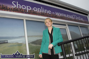 Entrepreneur, Sarah Blake pictured outside her East 73rd store in Ballybunion. This was to be followed by the Castleisland store last December.  ©Photograph: John Reidy