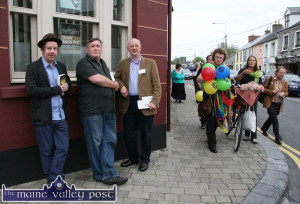 The 'Something for Everyone' element of Listowel Writers' Week is probably summed up in this picture. Then festival chairman, Michael Lynch pictured with writers, Kevin Barry (left) and Gerry Stembridge.  ©Photograph: John Reidy 2-6-2011