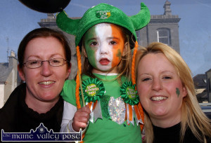 The tragic Zoe Scannell as a three-year-old with, Anna (left) and mom Alisha Scannell at the St. Patrick's Day Parade in Listowel in 2009  ©Photograph: John Reidy 17-3-2009