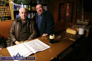 David Dauber Prendiville (left) and Paul Reese in Sheila's. Dauber's 'Not for Racing' advice to a young man made it into Breda Joy's book. ©Photograph: John Reidy  15/12/2008