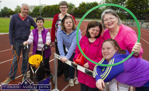 Getting ready for tomorrow's St. John of God Fun Sports Day at An Ríocht AC are: Seán Hanley, Oileán Beó Instructor;  Noreen McGuire, Margaret Enright, Mary Flynn, Claire Rohan, Breda O'Donoghue, Special Olympics Kerry coordinator and Mary Claire McCarthy. ©Photograph: John Reidy