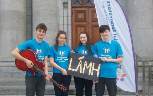 Students form St. Patrick's Boys' Secondary School and St. Joseph's Presentation Girls' Secondary:  Shay Walsh (left) pictured with: Fiona Nelligan-McGuire, Shauna O Donoghue and Paul Walsh.