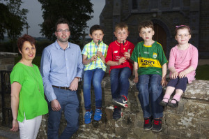Members of Brosna Comhaltas Ceolteóirí Éireann branch pictured at the launch of the 2016 Con Curtin Music Festival which takes place in Brosna this weekend. Included are:  committee members, Mairead Curtin and Daniel Woods  with:  Ruairí Sheehan, Danny Hickey and Connor and Kate Lenihan.