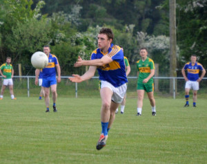 Padraig O'Connell catching the ball in the Cordal V Knocknagoshel game. Photograph: Nora Fealey CúlPix