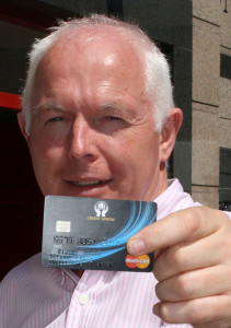 Tralee Credit Union Chairman, Fintan Ryan at the launch of the new Debit Card this week.