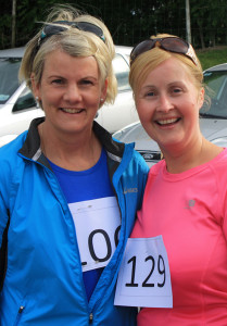 Bridget and Patrica McAuliffe at the Kilmurry 5K Fun-Run. Photograph: Danny Kelliher