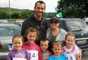 All ready to go for 2016 Kilmurry 5k Fun-Run - The Griffin and Myers families look relaxed before the run. Photograph: Danny Kelliher