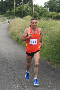 John Barret completes the Kilmurry 5K in style in a time of 17.08 minutes. Photograph: Danny Kelliher
