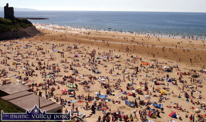 A typical scene in Ballybunion and many other beaches around the coast in fine, summer weather. ©Photograph: John Reidy