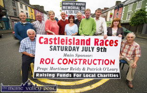 Members of Castleisland Races Committee and the Humphrey Murphy Memorial 5K and 10K pictured at the recent announcement of details of their annual meeting and associated events. Included are: seated, Chairman, Charlie Farrelly (left) and Willie Reidy. Back row: Martin Conway, Pat Hartnett, PRO; Martina O'Mahony, Tom O'Sullivan, Mags O'Sullivan, John Ryan, Ted Kenny, James Maher and Kay Reidy. ©Photograph: John Reidy 11-6-2016