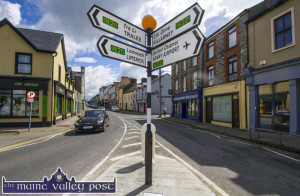 Area engineer, Brendan Mulhern and his gang replaced the knocked-over signpost in the Latin Quarter recently. ©Photograph: john Reidy