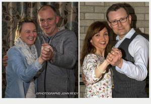 Winners: Sandra Hartnett-O'Connor and Michael 'Trod' Broderick (left) won the popularity vote last night while Siobhán Daly and Lezek Brozozka took the judges vote with their floor skills. ©Photographs: John Reidy