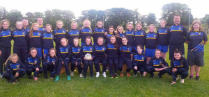 Ballymac U-14 girls and their mentors who embraced Féile 2016 and did their club proud.