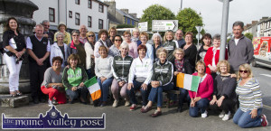Members of the party from Bordeaux and their Castleisland hosts pictured at The Fountain in Castleisland on Sunday evening. ©Photograph: John Reidy