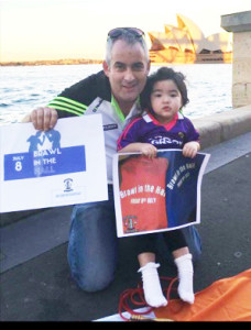 Church Street, Castleisland native, Tim Broderick and his daughter, Bella doing their bit in Australia for the globalisation of The Brawl in the Hall as they posed in front of the famed Sydney Opera House.