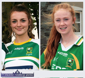 Labhaoise Walmsley (left) and Kayla O'Connor part of the Kerry U-16 team to face Dublin in the All-Ireland final. ©Photographs:  John Reidy