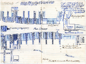 A map of the battle scenes in Castleisland on  July 10th 1921