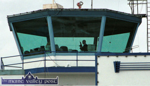 A marksman positioned in the control tower of Kerry Airport as the flight of former US president Bill Clinton was due to touchdown in May 2001. ©Photograph: John Reidy 20/05/2001