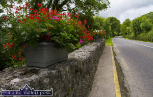 Clonough Bridge as you never saw it before as part of its flower bedecked and manicured approach road surroundings on the Limerick Road. ©Photograph: John Reidy