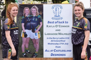 Cordal's Kayla O'Connor and Labhaoise Walmsley from Castleisland have both played crucial roles in the Kerry Ladies U-16 effort to secure All-Ireland glory in Nenagh on this Wednesday evening at 7pm. Photograph Courtesy of Aileen Lynch