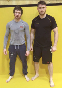 Sean 'One Punch' Pembroke (left) with Shane 'Mono' Monaghan in preparation for their respective bouts on August 13th.