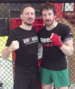 Farranfore native, Seán Pembroke (right) pictured with John Kavanagh, coach to 'The Notorious' Conor McGregor.