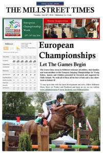 Dan Geaney on the cover of the Millstreet Times on Tuesday.