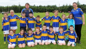 Cordal U-8s with their mentors, George O'Connor and Mary Nolan in Knocknagoshel.