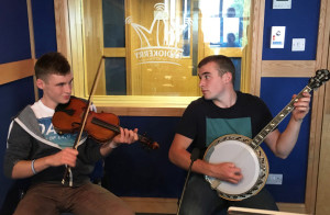 All-Ireland champions:  Darragh (left) and Gearóid Curtin, Brosna CCE. The brothers will feature on Marian O'Flaherty's Caint Chiarraí on Radio Kerry on the coming Sunday night at 8pm. Photograph by Marion O'Flaherty, Radio Kerry.