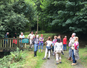 Locals and visitors enjoying the forest walk and talk.