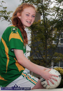 Kayla O'Connor being congratulated on her achievements by her local Coiste Na nÓg. ©Photograph: John Reidy