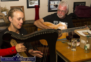 Amala Launch: Reidun Schleisinger and Paul de Grae pictured during their CD launch on the opening night of the Mike Kenny Arts and Music Weekend at Browne's Bar in August. ©Photograph: John Reidy