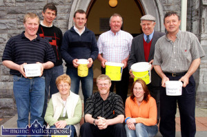 The late Edward 'Sonny' Boyle (back second from right) helping out Br. Tom Walsh (front) at an Ethopian Project collection in Castleisland in 2005. Br. Walsh's team of collectors also included: Noreen Flaherty (left) and Martina O'Donoghue. Back from left: PJ Walsh, Mike Kearney, Richard O'Donoghue, John Flaherty, Mr. Boyle and Mossie Dore. ©Photograph: John Reidy  15-5-2005