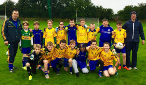 The Ballymac U-11 team pictured with mentors John Rice and Martin Lowe during their participation in the Firies U-11 Blitz on Saturday.