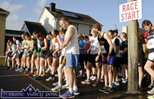 Watches being checked and set as the runners face up to the line at the start of a recent An Riocht AC Couch-to-5K Road Race/Fun Run in Castleisland. The first of the September series of three events gets underway this evening at 7pm.  ©Photograph: John Reidy