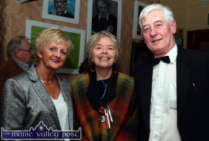 Kerry Council Writer-in-Residence, Máire Holmes (centre) pictured with Jean Horgan and Kerry Drama Festival Director, Jerome Stack  after she  officially opened the 2015 at the Ivy Leaf Art Centre in Castleisland. ©Photograph: John Reidy