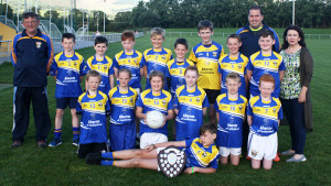The Cordal/Scartaglen U12 panel and their mentors, Mike Flynn, Tom Dennehy  and ???? celebrate their win in the 2016 Castleisland Co-op Livestock Mart District League at Castleisland Desmond's on Saturday 10th of September.