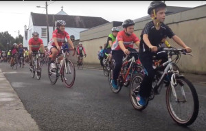 Click on the image here to see a film clip of the cyclists taking off on the 10th annual Castleisland Day Care Centre Cycle. 4-9-2016