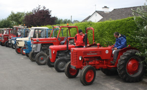 Some early arrivals parked up before the start of the annual Paudie Fitzmaurice Memorial Tractor and Vintage Run in Cordal on Sunday.