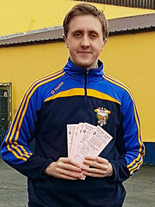 Cordal GAA Club PRO, Paddy Flynn with a fistful of the just launched annual tickets for the club's  Lotto. Retailing at €50, the ticket provides the holder with three entries into the club Lotto per month for a year. If you're not in you can't win!