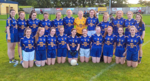 The Ballymac U-16 girls' team who were  narrowly defeated by Duagh in the North Kerry League Division 3 Final.