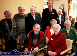 Micheál Martin TD Minister for Health and Children pictured at the official opening of the Castleisland Day Care Centre with locals including: Kitty McCarthy,  Denis Curtin, Sr. Rita Donegan, Paddy Joe Brosnan, Maura Curtin, Chris Pembroke, Mai Prendiville, Sr. Maureen Kane, Pat Tarrant. ©Photograph: John Reidy 22-03-2002