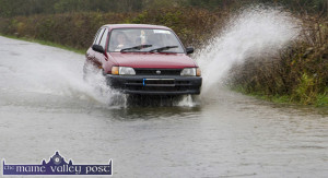 Heavy rain fall has caused road closures in various parts of the county. ©Photograph: John Reidy